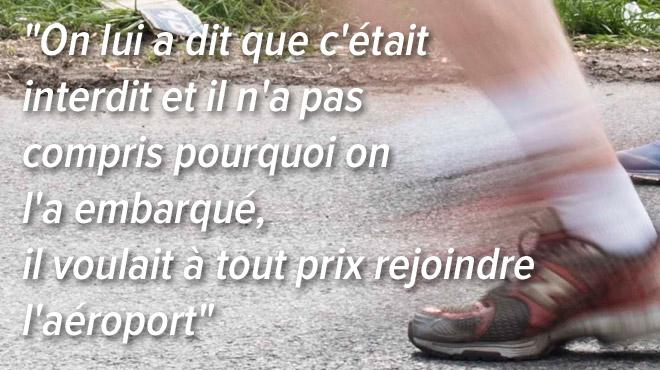 Arrêté sur la bande d'arrêt d'urgence de l'autoroute: il COURAIT les 170 km qui le séparait de l'aéroport de Lyon
