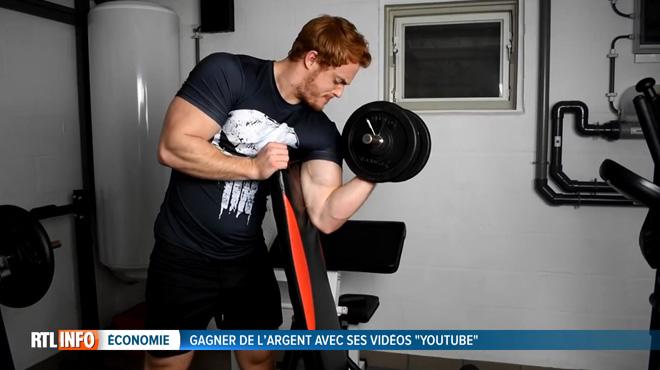 Kilian arrondit ses fins de mois en soulevant des poids sur YouTube: Il a gagné 1500 euros en un an