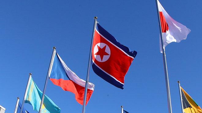 Le drapeau nord-coréen tabou hissé au Sud pour les JO: une dérogation de la justice a été nécessaire