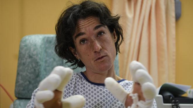 Elisabeth Revol, a échappé in extremis à la mort lors de l'ascension de l'Himalaya