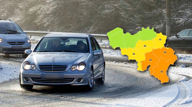 Les averses s'abattent sur la Wallonie: les routes pourraient être dangereuses à plusieurs endroits