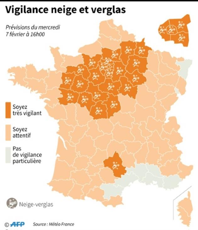 Loire et Haute-Loire en vigilance orange — Neige et verglas