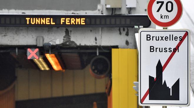 Deux tunnels ont dû être fermés sur la petite ceinture de Bruxelles… à cause d'un morceau de plastique