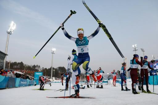 JO-2018: la Suédoise Charlotte Kalla remporte le premier titre des Jeux, en ski de fond