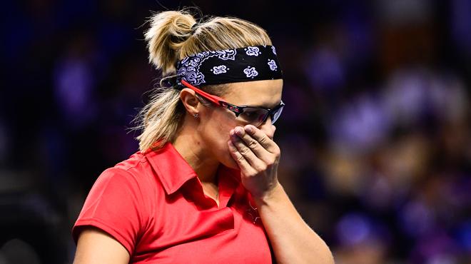 Parmentier ne fait pas le poids face à Mertens — Fed Cup