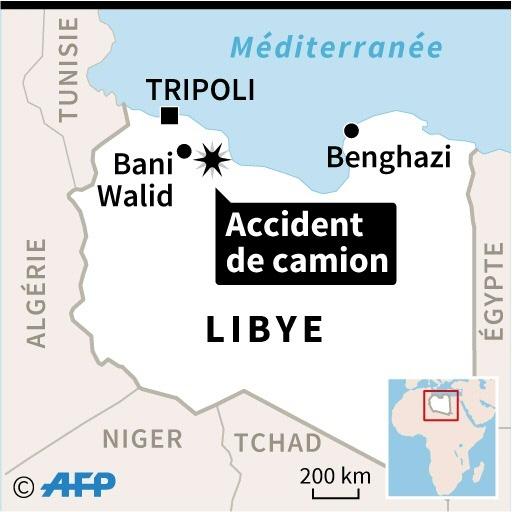 Libye: une vingtaine de migrants tués dans l'accident d'un camion