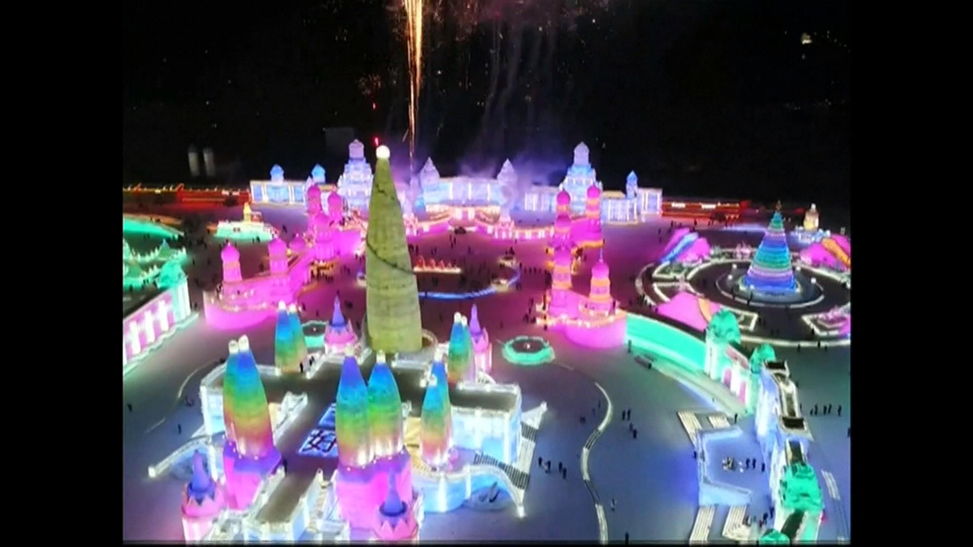 Un incroyable parc à thème entièrement en glace installé uniquement pour le Nouvel an chinois