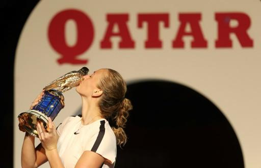 Tennis: sur son nuage, Kvitova gagne un second titre de rang, à Doha