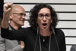 Une dirigeante indépendantiste catalane laissée en liberté sous caution
