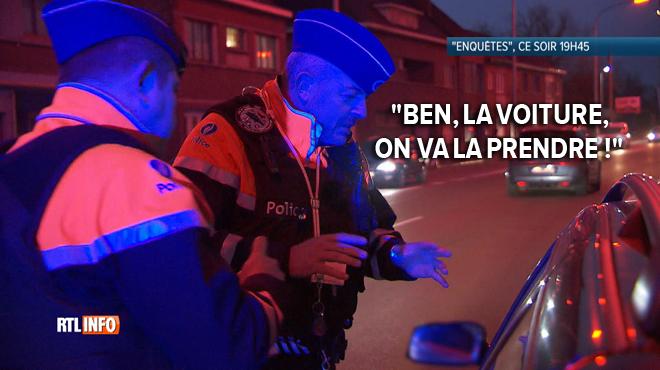 Un policier contrôle l'identité d'un conducteur qui n'a AUCUN PAPIER à présenter: