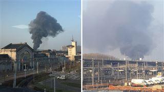 Marcinelle- un incendie de hangar se propage à deux habitations (photos) 5