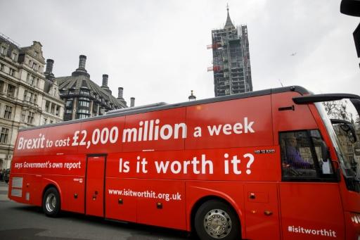 Brexit: un bus rouge pour une nouvelle campagne pro-UE
