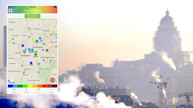 Vous voulez suivre la qualité de l'air en temps réel à Bruxelles? Une nouvelle application vous alerte en cas de pic de pollution