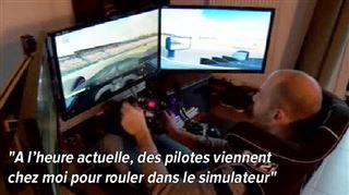 Devenu pilote auto grâce à sa Playstation avant de perdre son volant, ce Bruxellois a développé une incroyable voiture de course dans son salon 5