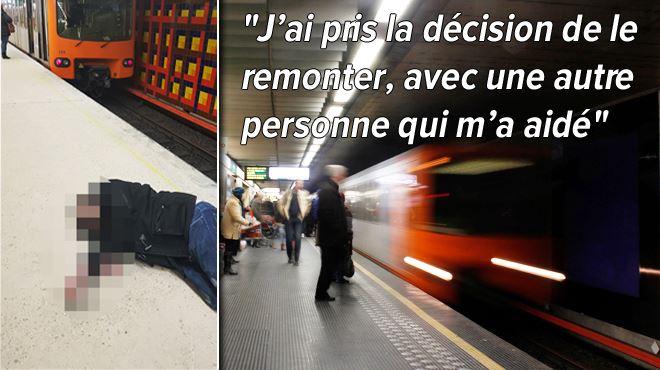 Une personne ivre tombe sur les voies et s'en sort miraculeusement à Merode- Le métro a freiné d'urgence 1