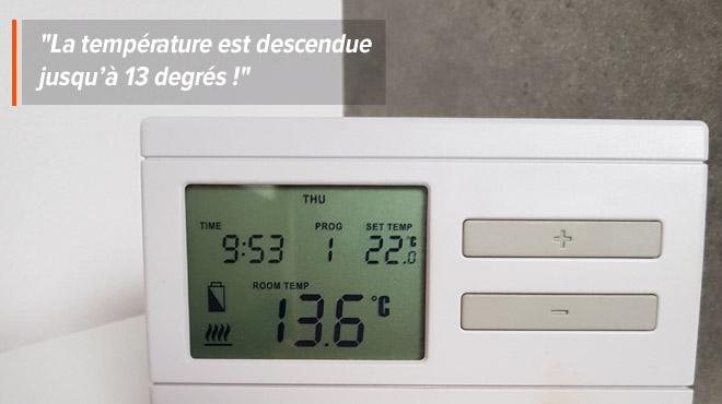 Les radiateurs de la maison de Joëlle sont défectueux en plein hiver: