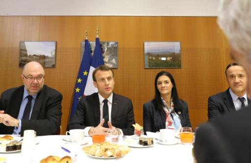 Emmanuel Macron est arrivé au salon de l'Agriculture