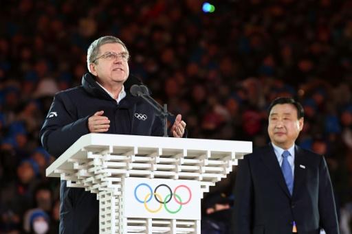 JO-2018: le président du CIO clôture les Jeux de Pyeongchang, des