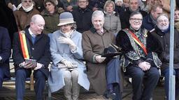 Le couple royal à Grammont pour le cortège des Krakelingen