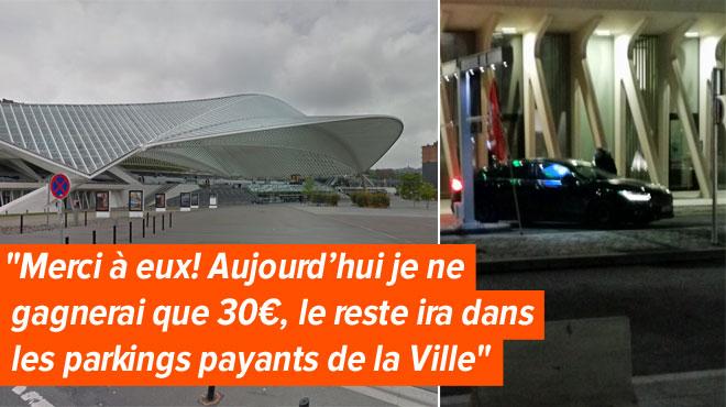 Des navetteurs n'ont pas pu garer leurs voitures dans le parking de la gare des Guillemins: