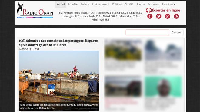 Trois bateaux font naufrage sur le fleuve Congo: au moins 14 personnes portées disparues