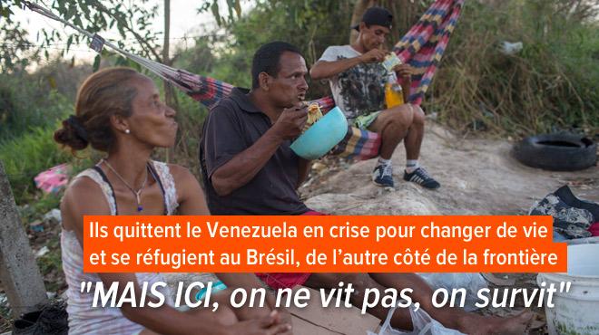 Ils faisaient partie de la classe moyenne au Venezuela: maintenant ils vivent dans un abri de carton au Brésil