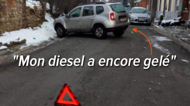 Lorsqu'il fait trop froid, le diesel SE FIGE: la voiture d'Ariane n'a pas démarré ce matin à Solre-sur-Sambre