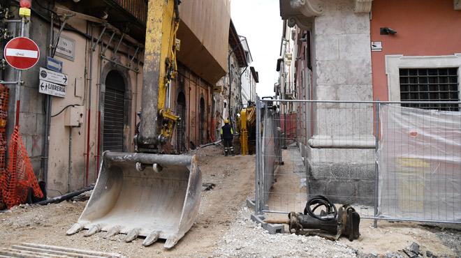 9 ans ans après le tremblement de terre à L'Aquila en Italie:
