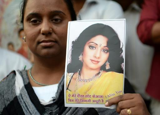 Inde: adieux émus à la star de Bollywood Sridevi