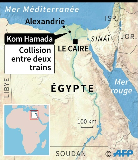 Egypte: au moins 10 morts dans une collision ferroviaire
