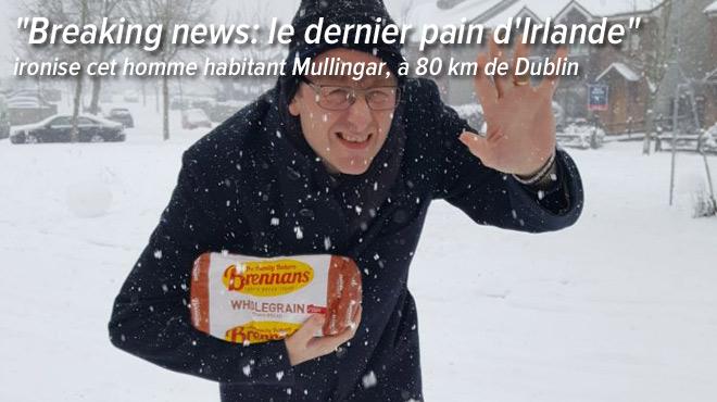 Panique en Irlande avant l'arrivée de la tempête de neige Emma: les supermarchés sont littéralement dévalisés
