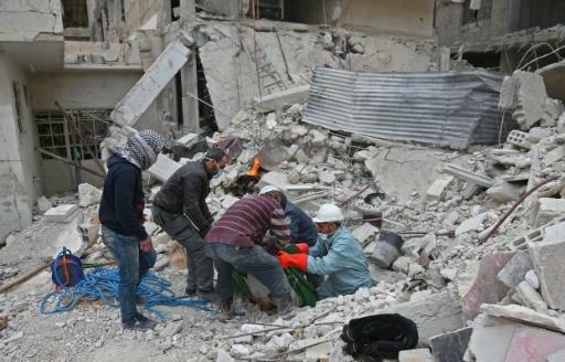 Même dans les sous-sols de la Ghouta en Syrie, la mort rattrape les civils