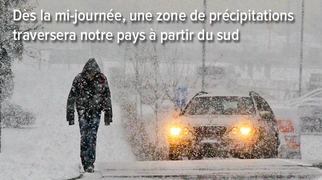 Préparez-vous: ce vendredi, neige et pluie verglaçante prévues sur TOUT LE PAYS