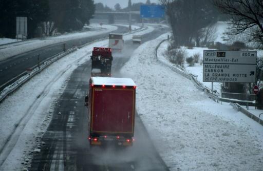 Automobilistes bloqués par la neige: situation