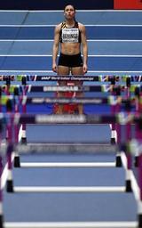Mondiaux d'athlétisme en salle - Troisième demi-finale, avec Sharika Nelvis, et couloir 1 pour Berings samedi