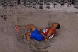 Mondiaux d'athlétisme en salle - Le Cubain Echevarria titré au saut en longueur