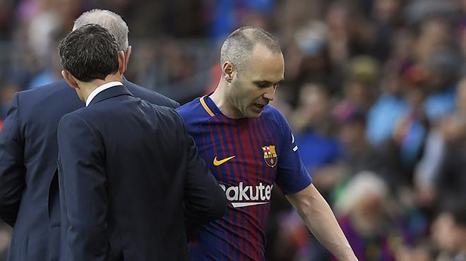 Barcelone : Le Barça communique sur la blessure d'Iniesta