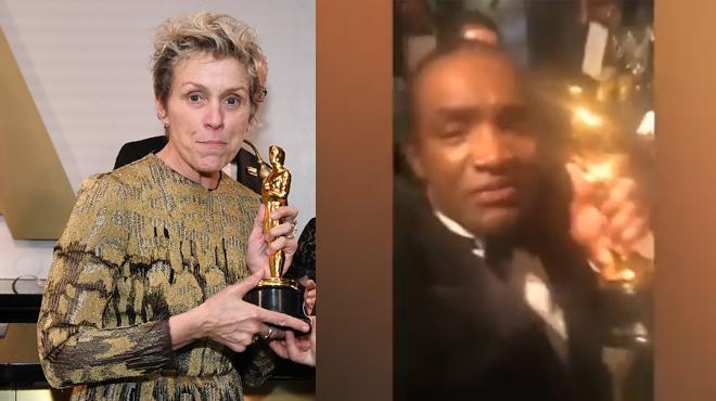 Cet homme poste une vidéo de lui en train de voler l'Oscar de Frances McDormand... et se fait arrêter par la police (vidéo)