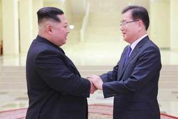 Kim Jong Un et une délégation de Séoul discutent d'une détente (KCNA)