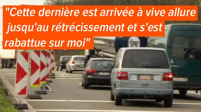 Florent dénonce les automobilistes qui profitent de la règle de la tirette pour forcer le passage: qui serait en tort en cas d'accident?