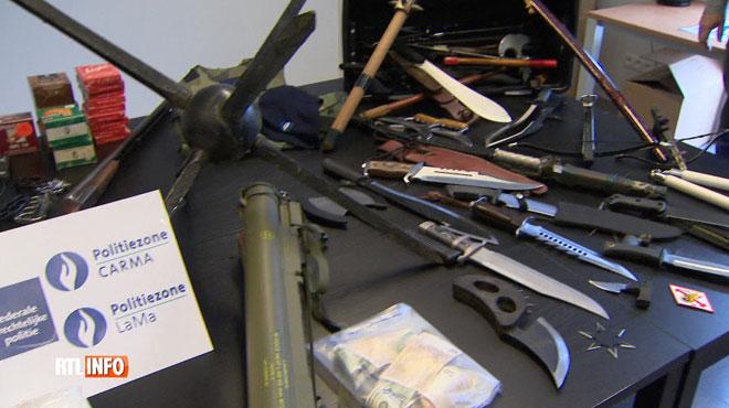Gros coup de filet dans les locaux des Hells Angels en Flandre: un véritable arsenal découvert, dont un lance-roquette