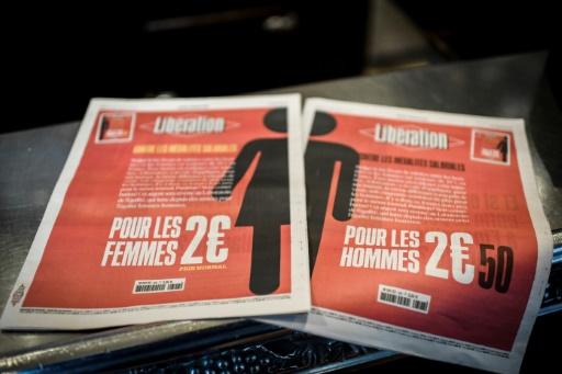 Journée des droits des femmes: le journal Libération plus cher pour les hommes