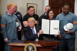 Droits de douane sur l'acier et l'aluminium - Trump dénonce des pratiques commerciales qui sont