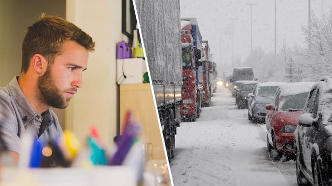 Travail à domicile en cas d'alerte météo: la CGSP veut une compensation pour les fonctionnaires obligés de se rendre au travail