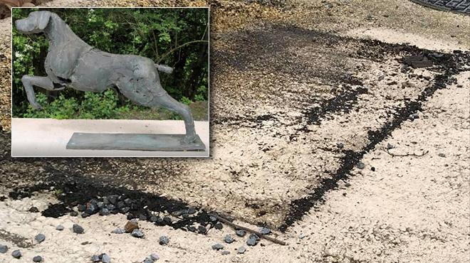 La statue de chien emblème de la SPA de Charleroi vient d'être volée: