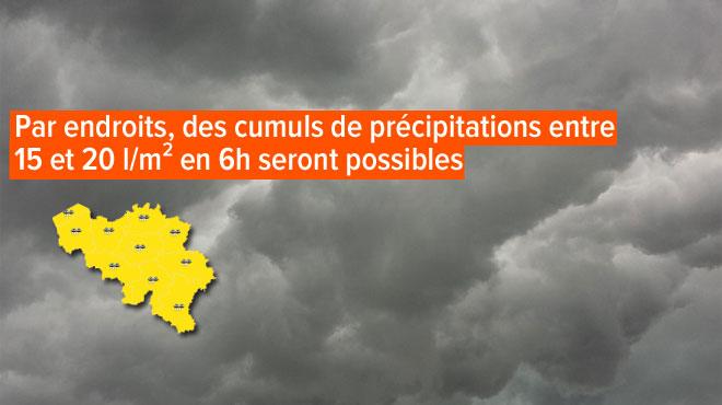 Prévisions météo: des pluies pourraient être localement intenses et accompagnées d'orages ce dimanche