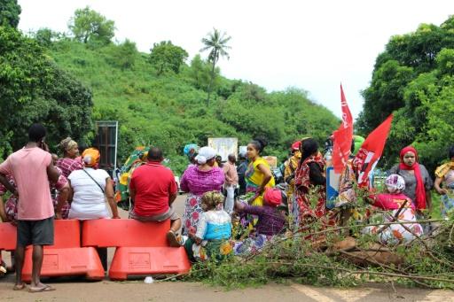 Le port de Mayotte bloqué par des manifestants contre l'insécurité