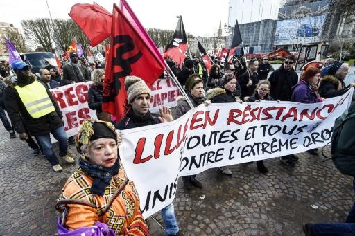 Lille: 500 manifestants contre le congrès du FN