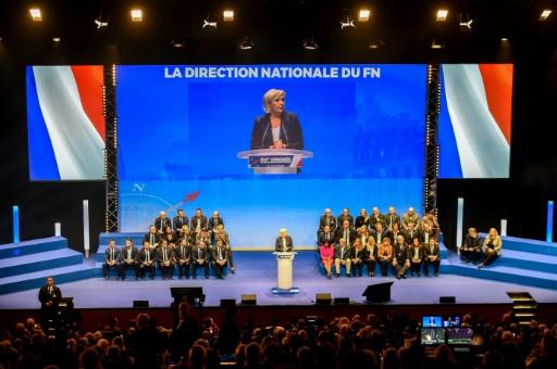 Marine Le Pen réélue sans surprise présidente du Front national