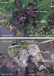 Violences envers les Rohingyas - Des bases militaires birmanes à l'emplacement des villages rohingyas